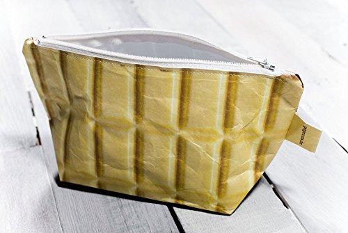Paprcuts Kosmetiktasche, Federmappe - Schokolade: Schicke Knittertasche - federleicht, reißfest, wasserfest, recyclebar