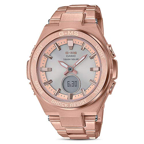 Casio Baby G Grey Dial Stainless Steel Ladies Watch MSG-S200DG-4A