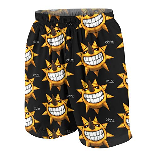 NanZYang Teen Beach Shorts for Boy Swim Trunks Soul Eater Swimsuit Boardshorts Bath Suits with Pockets X-Large White