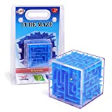 playkidiz 3D Maze Puzzle Cube - Fun Brain Game for Ingenuity Training and Stress Relief - Great for Kids and Adults (Colors May Vary)