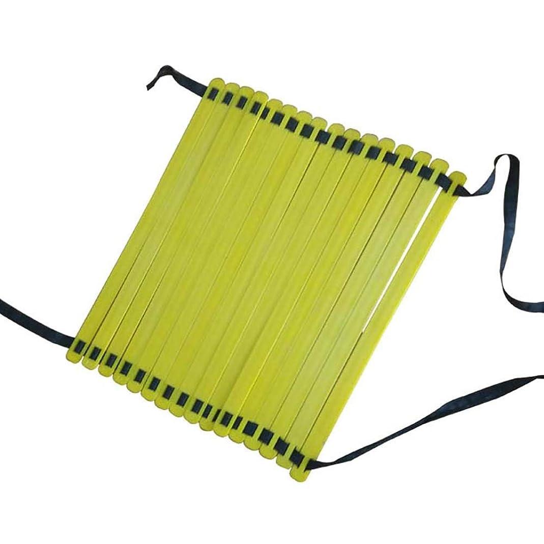 きらめき口述パリティスピードラダー 敏捷性はしごスピードはしご黄色と青16肺キャリーバッグ子供大人用サッカートレーニング高輝度フットワーク