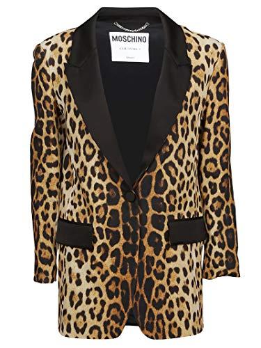 Moschino Luxury Fashion Damen J050905561888 Braun Seide Blazer   Jahreszeit Outlet