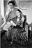 bekannten Künstlerin Frida Kahlo Vintage Foto Zitat Poster