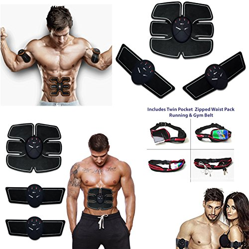 HK Online Smart Fitness 1 x Ab EMS TRAINER -2 x ARM STIMULATOR, 3 CONTROLE Apparaten & GYM Riem Tailletas inbegrepen