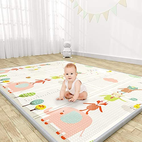 YOOVEE Baby Play Mat Extra Large Thick Playmat Folding Portable Waterproof Reversible Double product image