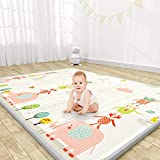 YOOVEE Baby Play Mat, Extra Large Thick Playmat, Folding Portable Waterproof Reversible Double-Sided Crawling Mat, Baby...