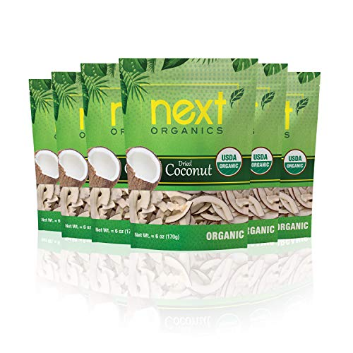 Next Organics Dried Coconut 6 oz Bag (Pack of 6)