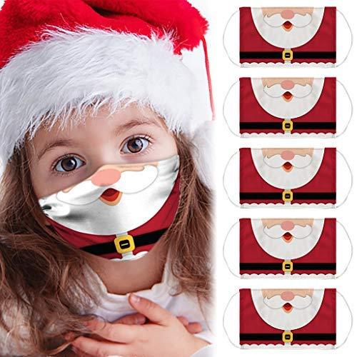 6pc Transparenter Gesichtsschutz - Wieder-Verwendbarer Mund und Nasen-Schutz Waschbare Mundschutz Mit klarem Fenster Sichtbarer Ausdruck für Gehörlose und Schwerhörige for Herren Damen