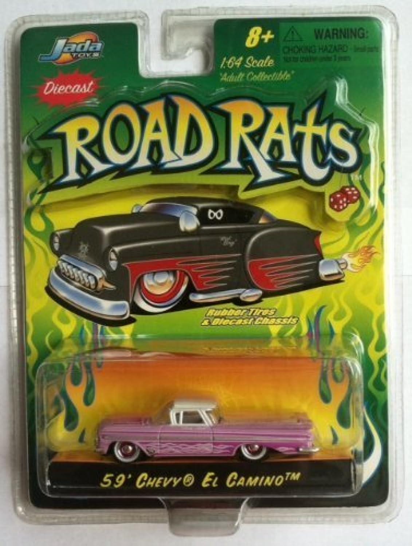 grandes precios de descuento Jada Road Rats 59 Chevy El Camino (púrpura) (púrpura) (púrpura) by JADA TOYS  tomamos a los clientes como nuestro dios