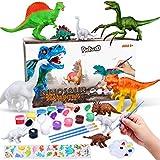 Pickwoo Dinosaurier Malset für Kinder, ungiftige Bastelset 3D DIY Dinosaurier Malset Bemalen Und Basteln Dinosaurier Figuren DIY Kreativ Spielzeug Geschenke für Jungen Mädchen