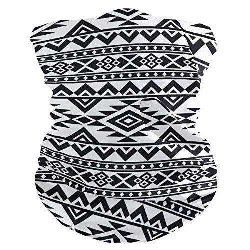 Diadema tribal azteca con patrón geométrico para la cara, protección solar UV, máscara para cuello, bufanda mágica, bandana para la cabeza, pasamontañas para mujeres y hombres