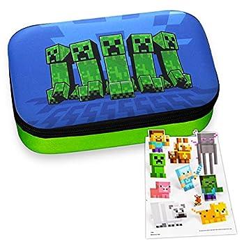 Minecraft Merchandise Bundle for Kids Boys - Minecraft Pencil Holder with Minecraft Stickers Minecraft Favors Set  Minecraft School Supplies