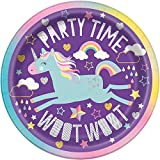 Unique Party 72494 Unicorn - Platos de papel (8 unidades, 17.1 cm)