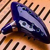 kinberry 12 hole ocarina ceramic alto c legend of zelda ocarina flute blue ocarina musical instrument