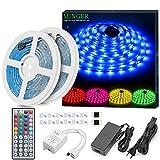 Minger Kit de Ruban à LED Etanche 10M 300 leds 5050 RGB SMD Multicolore Bande LED Lumineuse avec Télécommande à...