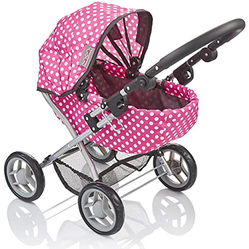 Molly Dolly My First Cutie Dolls Pram - Adjustable Toy Pram For 2 - 5 Year Old Girls - Toy Stroller For Girls Age 2 +