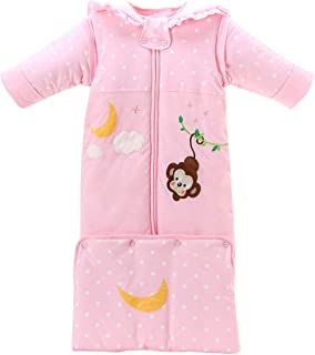 Fairy Baby Newborn Baby Boy Girl Winter Thick Sleepsack Cute Bunting Bag Wearable Blanket Size 0-4T (Pink)