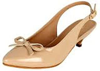 Women's Partywear Leather Fashion High Heel Sandal Cream Color (Size 9)