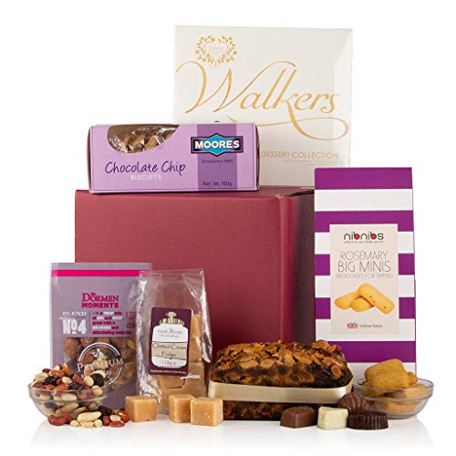 The Selection of Treats Gift Hamper - Food Hamper Gift - Chocolates, Cake, Nuts, Biscuits, Fudge and Nibbles