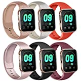 Silicone Bands Compatible with Apple Watch Bands 38mm 40mm 42mm 44mm, Soft Wristbands Compatible with iWatch Bands (Glitter Rose/Glitter Silver/Rose Gold/Black/Wine Red/Red, 38mm/40mm-M/L)