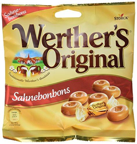 Werther's Original Sahnebonbons – (5 x 120g Beutel) – Leckere Karamell Bonbons mit einer extra Portion Sahne zumgenießen für jeden Süßigkeiten-Liebhaber