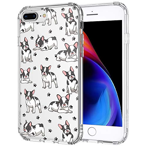 MOSNOVO Cute French Bull Dog Pattern Designed for iPhone 8 Plus Case/iPhone 7 Plus Case - Clear