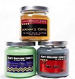 Star Trek Soy Candles (Set of 3) Vulcan Pon Farr Earl Grey Tea Janeway's Coffee (16 oz) Trekkie Geek Gift Idea