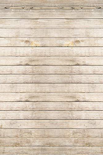 KonPon Telón de fondo de madera Fotografía Fondo de vinilo Piso de madera Fotografía Fondos de estudio Foto Props Fondo KP-082