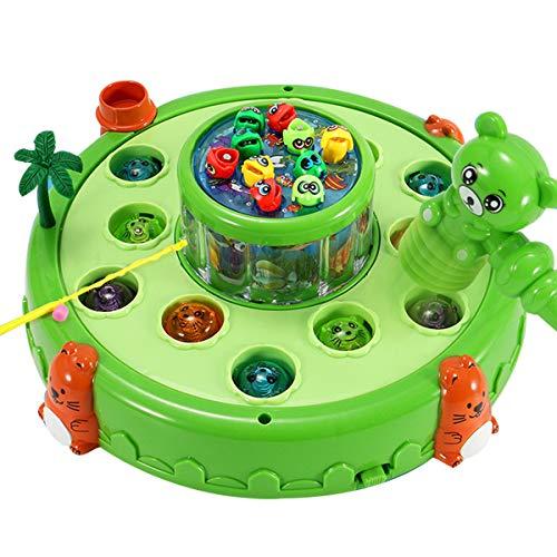 KAILUN Whack A Mole Game Dog Whack A Mole Juego De Actividad Juguete De Desarrollo Temprano con Sonido Ligero Regalo De Juguete Divertido Interactivo para Bebés Niños Pequeños Niños Jugando,Verde