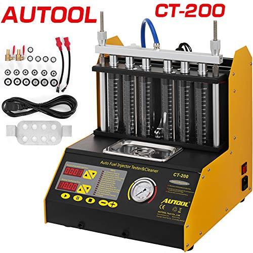 VEVOR Máquina de Limpieza de Inyectores 6 Cilindros Limpiador de Inyectores de Combustible Cilindro Profesional CT200