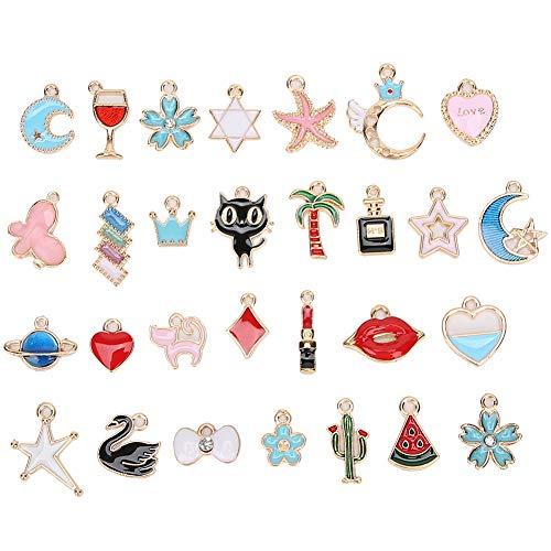 Herramientas de los colgantes de bricolaje, accesorios de los colgantes 30Pcs, único durable para las mujeres de la muchacha