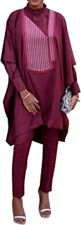 HD West African Traditional Clothes for Woman Ethnic African Wear 3 Pieces Cotton Outfits Slim Size