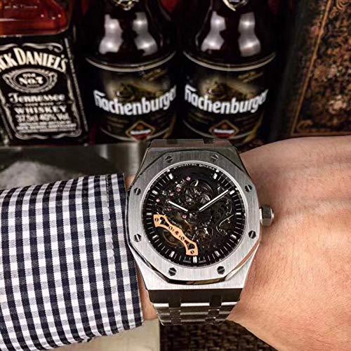 MKOIJN Horloges Automatisch Horloge Heren 41 Mm Geborsteld Grijze Wijzerplaat Uurwerk Stalen Kast Armband Mechanische Saffier Vouwsluiting