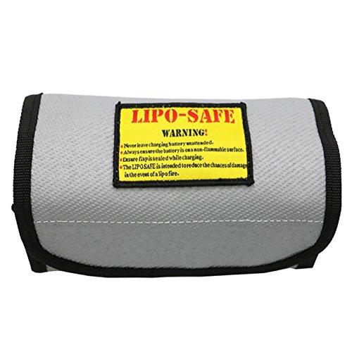 HELEISH Bolsa de protección de seguridad de batería Li-po ignífuga a prueba de explosiones de superficie 185MM * 75MM * 60MM Piezas de montaje de bricolaje