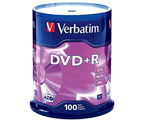 100 VERBATIM DVD +R 16X 4.7GB Envio URGENTE TARRINA DVD+R