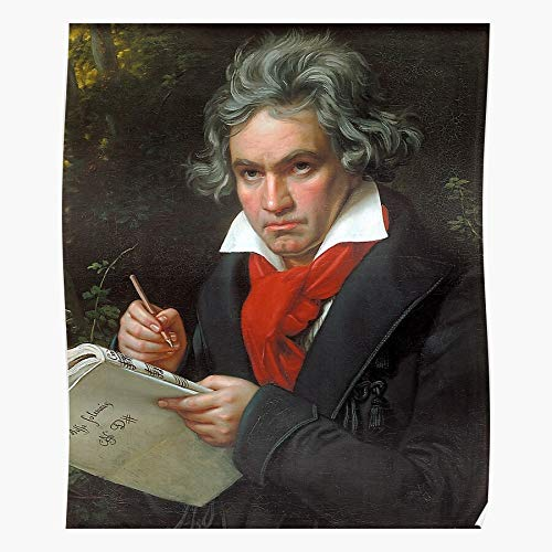 Vintage Song Ludwig Beethoven Van Composer Orchestra Music Conductor Póster de impresión...