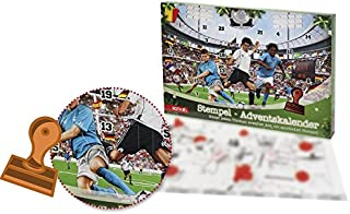 Roth 'Sello de Calendario de Adviento Fútbol, 1 Almohadilla + 23 Sello Incl.Plantilla de Sello, tamaño: 50 x 35 x 4 cm