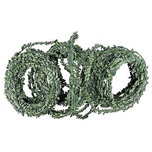 Deko-Girlande Buchsbaum | künstlich | 30m lang | mit Drahtverstärkung | grün | ideal als Tisch-Deko oder für Blumenarrangements