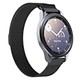 Olixar for Samsung Galaxy Watch 3 Milanese Watch Strap - Metal Mesh Watch Band, Replacement Metal Watch Strap, Comfortable, Sporty and Functional - Thin, Adjustable - Black - 41mm