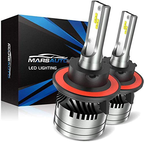 Marsauto H13/9008 LED Headlight Bulb Hi/Lo Beam,12000LM 6000K Xenon White, M2 Series Conversion Kit with Fan