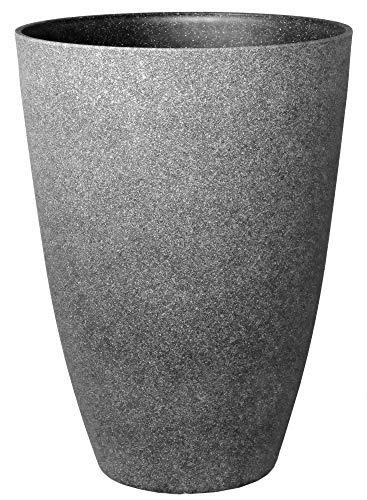 Pflanzkübel groß Ø 40 Höhe 55 cm Kunststoff Topf Farbe Graphit-grau