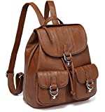 Backpack Purse for Women,VASCHY Fashion Faux Leather Buckle Flap Drawstring Backpack for College...