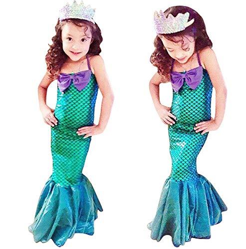 Seawhisper Kostüm Mädchen Meerjungfrau Kostüm Kinder Fasching Verkleidung Karneval Halloween Faschingskostüm 104 110 116 122 128 134 140