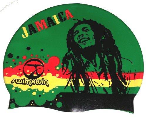 Gorro de silicona Jamaica Reggae | Gorro de Natación| Alta comodidad y adherencia | Diseño y estilo italiano