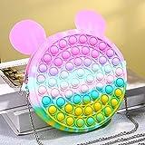 WZMFBH Bag Pops Fidget Toys Reliver Stress Toy Rainbow Push Bubble Simpl Dimmer Antiestrés Juguete Sensorial para niños Juego Mochila de Juguete Pop