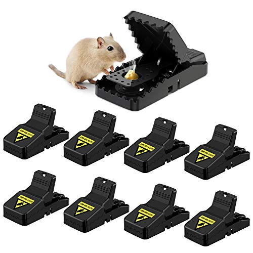 Awroutdoor 8 PCS Trampa Ratones, Trampas para Ratas, Reutilizable Trampas