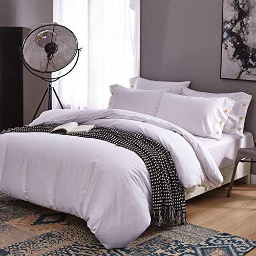 Wzhfsq Juego de funda de edredón para cama individual, cama de matrimonio, 135 x 200 cm, diseño de traje de tres piezas