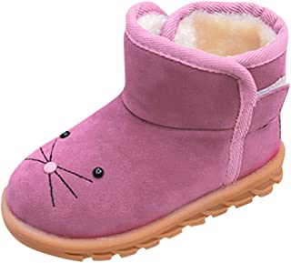Baby Toddler Girls Boys Fall Winter Boots Martin Sneaker 3-6 Years Old ❤️ Kids Fashion Thick Snow Casual Shoes