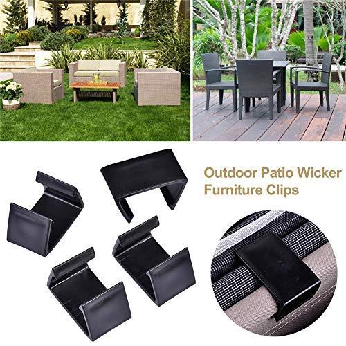 wendaby Anschluss-Clips Klemmbefestigungen für Rattan-Möbel Stühle Sofas Korbmöbel 20er-Set für die Außenterrasse, Kunststoff Gartenmmöbel Lounge-Verbinder