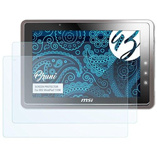 Bruni Schutzfolie kompatibel mit MSI WindPad 110W Folie, glasklare Bildschirmschutzfolie (2X)